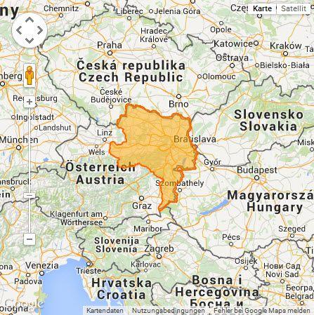Karte Wien Niederosterreich.Satmap Niederosterreich Wien Und Burgenland