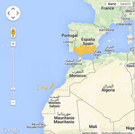 Kanaren Inseln Karte.Satmap Sudkuste Kanarische Inseln
